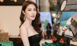 Diễm My 9x quyến rũ với đầm ống đen nữ tính tái ngộ 'chị đại' Ngô Thanh Vân