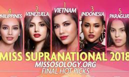 Trước chung kết, Minh Tú được chuyên trang sắc đẹp dự đoán sẽ trở thành Hoa hậu Siêu Quốc gia 2018