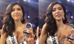 Minh Tú được trao cúp Hoa hậu Siêu quốc gia 2018 do khán giả toàn thế giới bình chọn