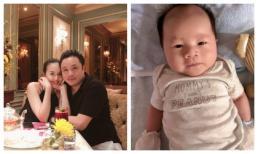 Victor Vũ - Đinh Ngọc Diệp khoe ảnh cận mặt con trai kháu khỉnh, đáng yêu sau hơn một tháng chào đời