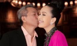Chồng 'Nữ hoàng ảnh lịch' Diễm My tình tứ hôn má vợ ngày sinh nhật
