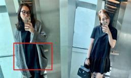 Lộ bụng lùm lùm, siêu mẫu Ngọc Thạch bị nghi đang mang bầu lần hai