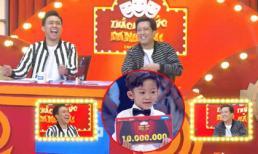 'Chửi' Trấn Thành - Trường Giang, thí sinh 6 tuổi ẵm ngay 10 triệu