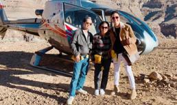 Nhật Tinh Anh mừng sinh nhật cha mẹ bằng tour du lịch bay cùng trực thăng tại Las Vegas