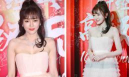 'Phú Sát Hoàng hậu' Tần Lam khoe ngực đầy với đầm xếp tầng trên thảm đỏ đêm tiệc Bazaar Jewelry