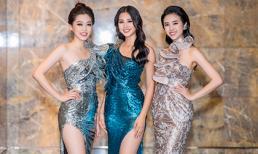 Tiểu Vy vai trần quyến rũ hội ngộ Phương Nga, Thúy An tại Hà Nội