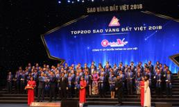 TGĐ công ty CP truyền thông Du lịch Việt Trần Văn Long vinh dự nhận giải thưởng Sao Vàng đất Việt 2018