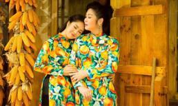 Hai mẹ con NSND Hồng Vân và Lê Phương cực tình cảm trong bộ ảnh áo dài