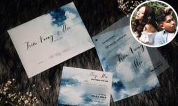 Hé lộ thiệp cưới ấn tượng, độc đáo của ca sĩ MiA