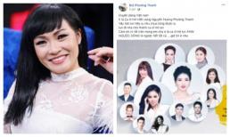 Phương Thanh được cho là bóng gió khi bị xếp ngang hàng Uyên Linh trên poster, sao Việt đồng loạt lên tiếng bênh vực
