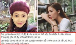 Chị gái Hoa hậu Đại dương Đặng Thu Thảo 1 sẵn sàng kiện nếu Á hậu Khánh Phương lật lọng, không chịu trả tiền