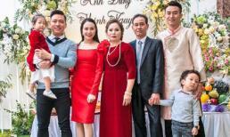 Sau tin vui bà xã mang bầu lần 3, gia đình Tuấn Hưng rộn ràng đi dự đám cưới em vợ