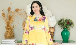 Hoa hậu Đền Hùng Giáng My diện đầm vàng khoe sắc xuân rạng rỡ