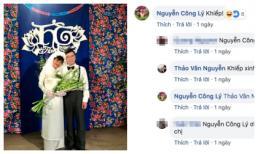 MC Thảo Vân đăng ảnh cưới với bạn trai kém tuổi, Công Lý lập tức vào bình luận bất ngờ