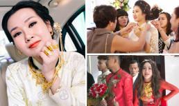 Những mỹ nhân Việt đeo vàng nặng trĩu trong ngày cưới