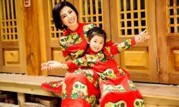 Mai Phương cùng con gái Lavie diện áo dài rạng rỡ đón Tết