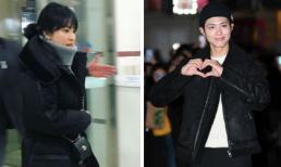 Song Hye Kyo và trai trẻ Park Bo Gum lên đồ giản dị tới dự tiệc mừng công 'Encounter'