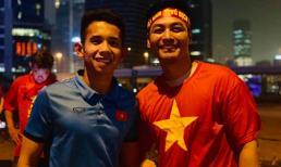 MC Phan Anh khoe loạt ảnh chụp cùng dàn tuyển thủ quốc gia sau trận đấu với Nhật Bản