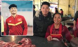 Rời Asian Cup, trung vệ Bùi Tiến Dũng về phụ mẹ bán thịt lợn