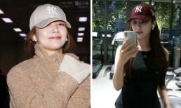 """Tiện như """"Thư ký Kim"""" Park Min Young mua mũ hàng chục triệu giống nhau về dùng dần"""