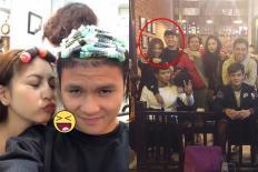 Vừa trở về hôm trước, hôm sau Quang Hải và bạn gái đã rủ nhau đi làm đầu