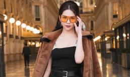 Ngọc Trinh phủ hàng hiệu từ đầu tới chân, sải bước ở kinh đô thời trang Milan