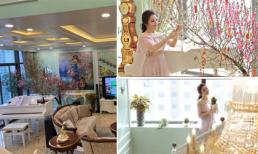 Không gian ngập tràn sắc xuân trong penthouse của ca sĩ Tân Nhàn vào dịp Tết nguyên đán 2019
