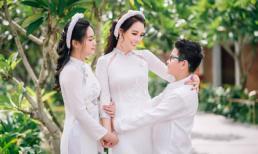 Ở tuổi 39, Mai Thu Huyền vẫn trẻ trung, xinh đẹp khi diện áo dài cùng các con ở Hội An