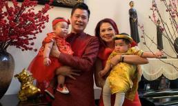 Thanh Thảo bế con gái cưng sang nhà 'tình tin đồn một thời' Quang Dũng mừng năm mới