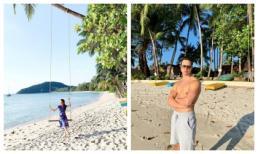 Trong khi Cường Đô la đưa Đàm Thu Trang đi Đà Lạt, Hà Hồ cùng Kim Lý vi vu Thái Lan tận hưởng kì nghỉ