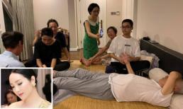 Đang bị bệnh, yếu ớt, xanh xao nhưng bố Hoa hậu Đền Hùng Giáng My vẫn gây xúc động khi làm điều này!