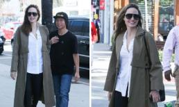 Angelina Jolie tươi tắn, diện style thanh lịch lộ diện bên con trai nuôi gốc Việt sau tin đồn sức khỏe suy sụp