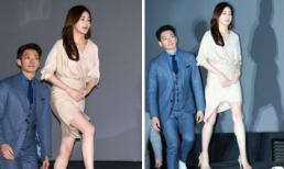Không hổ danh mỹ nhân sở hữu đôi chân tuyệt phẩm, tình cũ của Hyun Bin tranh thủ khoe 'bảo bối' bên cạnh Bi Rain