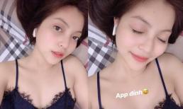Liên tục bị chê hở hang, bạn gái Quang Hải vẫn diện áo 2 dây sexy hát nhép 'Như lời đồn'