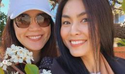 Tăng Thanh Hà qua Mỹ thăm người chị thân thiết Thân Thúy Hà