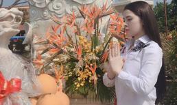 Á hậu Thư Dung đăng ảnh đi chùa, nói triết lí sống sau tin bị bắt khi đang bán dâm