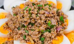 Cách làm trứng lòng đào sốt thịt băm kiểu Thái thơm ngon, lạ miệng