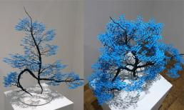 Bất ngờ trước những tác phẩm nghệ thuật tạo cây từ 3000 con hạc giấy gấp tay nhỏ
