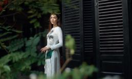 Minh Tú thần thái ngút ngàn với áo dài trắng giản dị