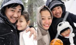 Khánh Hiền đi chơi cùng chồng con dưới trời tuyết, fan nhắn: 'Hai người bớt tình cảm đi được không?'