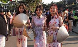 Mỹ nhân nhóm AOA xứ Hàn mặc áo dài ghi hình ở Hội An