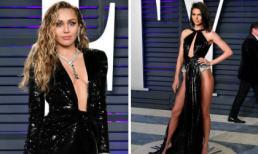 Miley Cyrus thả rông ngực; Kendall Jenner hở bạo tại tiệc hậu Oscar 2019