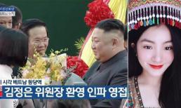 Nữ sinh tặng hoa Chủ tịch Triều Tiên Kim Jong Un ở ga Đồng Đăng gây bão MXH