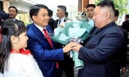 Bé gái 9 tuổi tặng hoa, được ông Kim Jong Un vuốt má là ai?