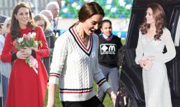 Nổi tiếng tiết kiệm, Kate cũng chẳng cạnh kém em dâu khi 'thử' diện đồ đắt tiền, thay trang phục ba lần trong ngày đầu đến Bắc Ireland