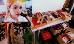 Hoàng Thùy Linh khoe cả kho giày hiệu mới bóc hộp, quần áo nguyên nhãn mác