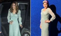 Dát đồ hiệu đầy người, mẹ chồng Tăng Thanh Hà đụng hàng ngay với Công nương Kate Middleton