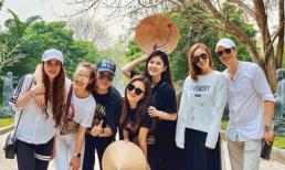 Quỳnh Nga và Việt Anh cùng hội bạn thân trong showbiz du lịch Ninh Bình
