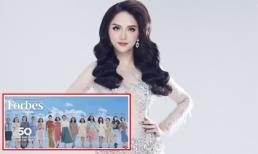 Hoa hậu Hương Giang lọt top 50 phụ nữ ảnh hưởng nhất Việt Nam do Forbes bình chọn