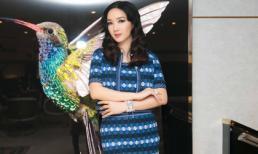 Hoa hậu Giáng My thả dáng sang chảnh với 'cây' đồ hiệu